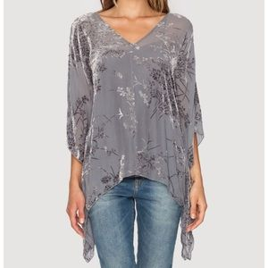 """Sweaters - Johnny Was 4 Love and Liberty """"Paz"""" burnout poncho"""
